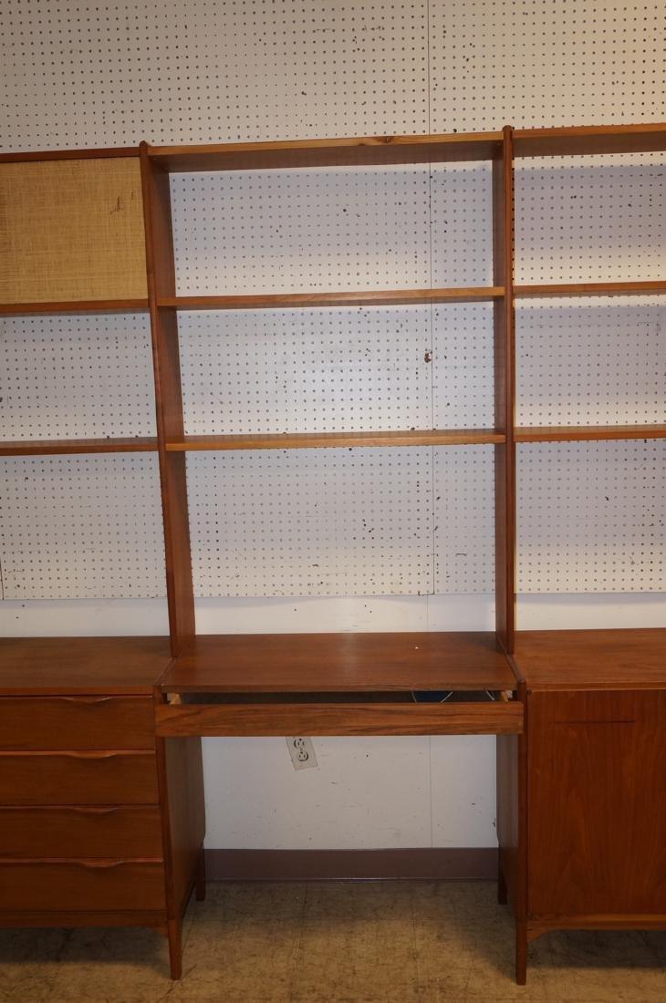 Danish Teak Modular Shelf Desk Unit. Bottom level - 3