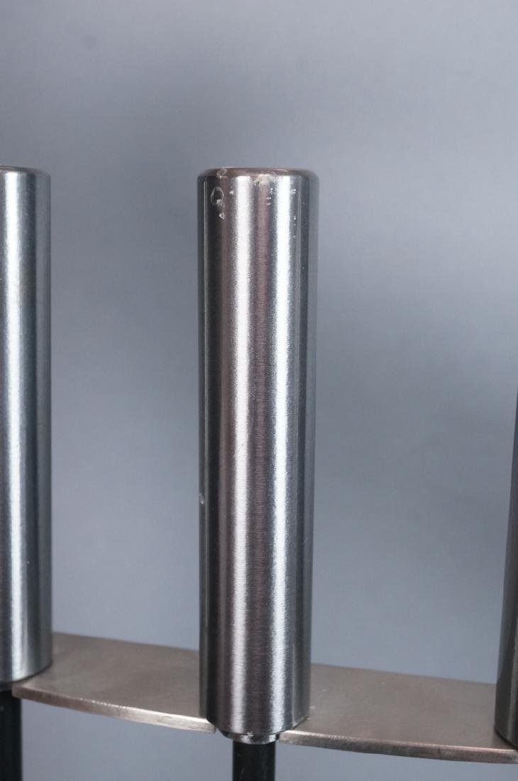 Stainless Modern Fireplace Tools & Stand. Rectang - 6
