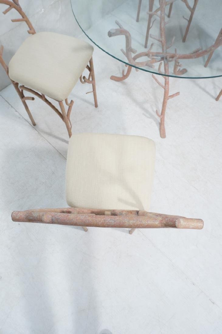 5pc Painted Aluminum Twig Coral Dinette Set. Roun - 5