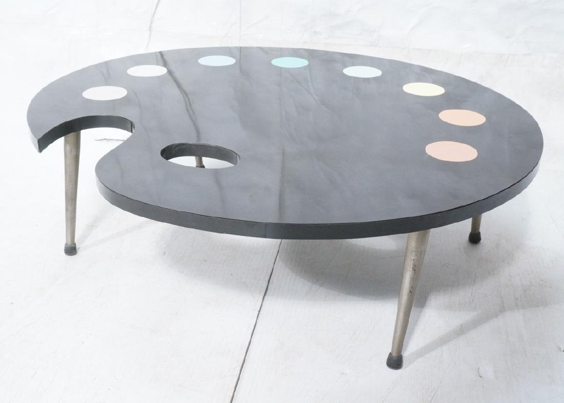 Black Laminate Palette Cocktail Coffee Table. Sty