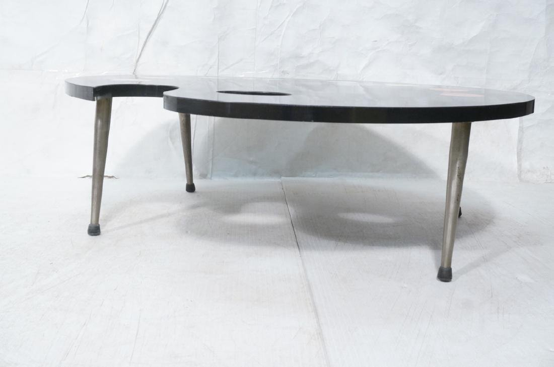 Black Laminate Palette Cocktail Coffee Table. Sty - 2