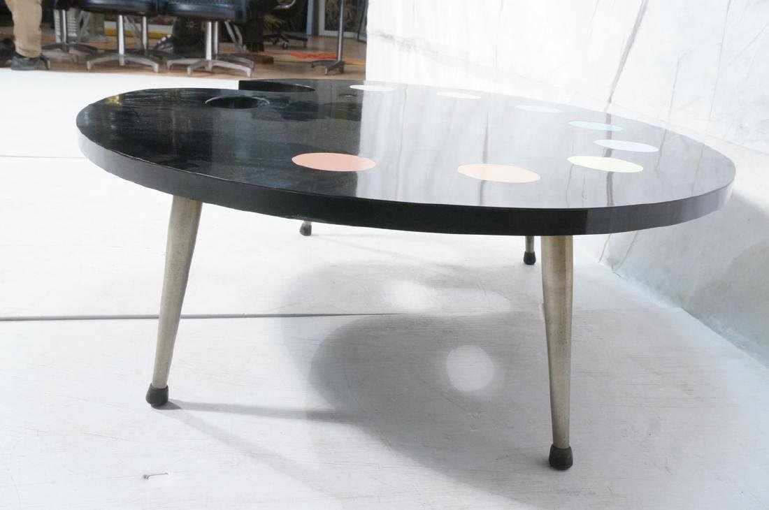 Black Laminate Palette Cocktail Coffee Table. Sty - 3
