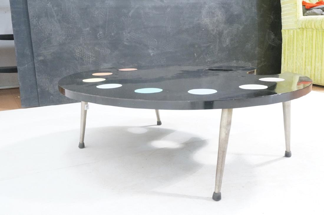Black Laminate Palette Cocktail Coffee Table. Sty - 6