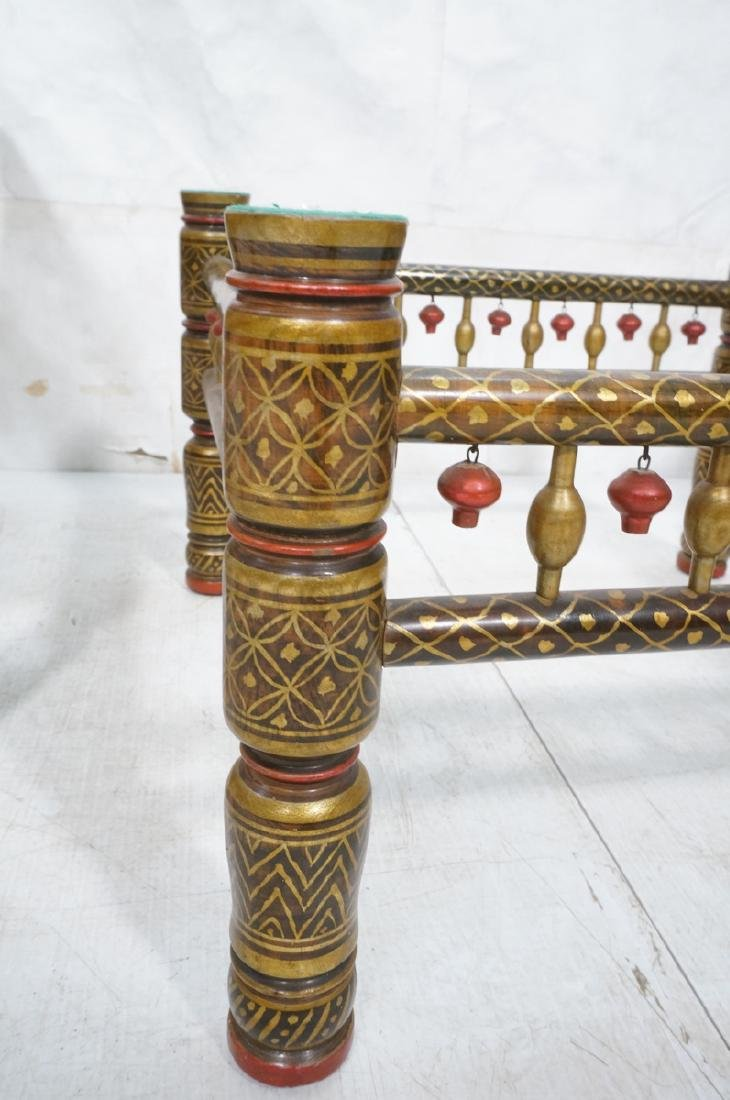 2 East Indian Style Decorator Chairs. Ottoman. Hi - 9