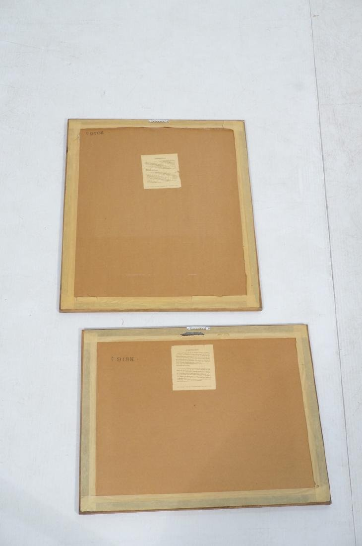 2pc DeCARLO Signed Prints. Yellow ground with red - 8