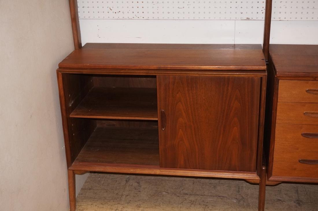 American Modern Walnut Shelf Cabinet Unit. Open c - 4