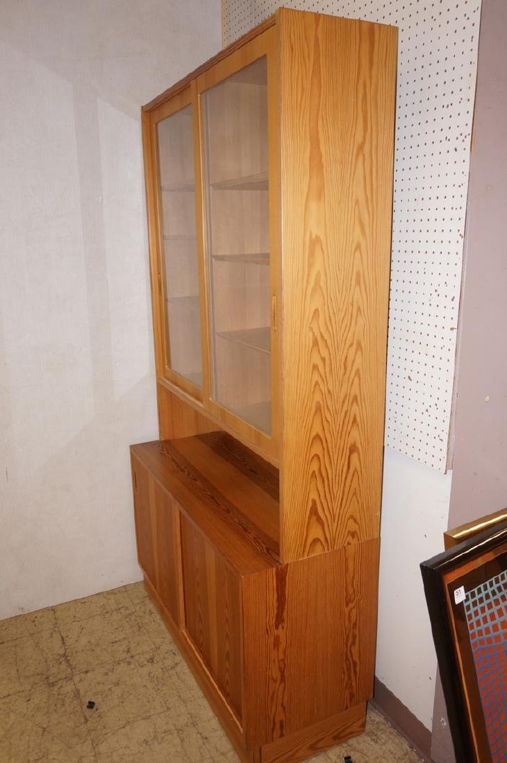 Danish Modern Pine 2 Part Hutch Server. Upper hut - 2
