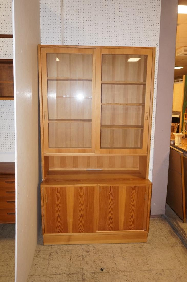Danish Modern Pine 2 Part Hutch Server. Upper hut - 3