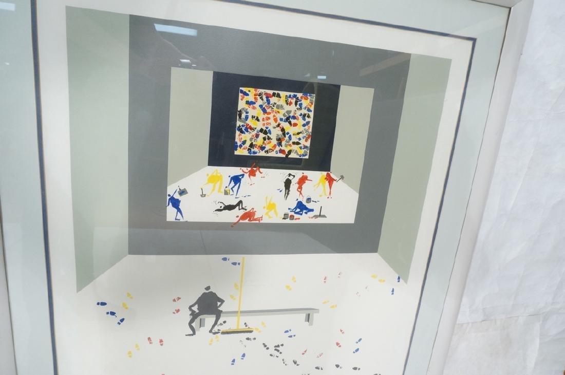 LEOPOSILLICO Silkscreen Print Primary Colored Foo - 5