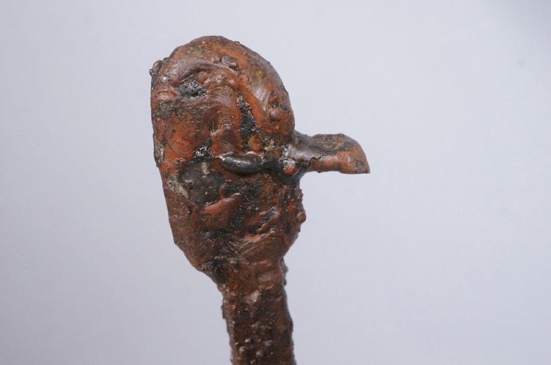 Giacometti Style Iron Ostrich sculpture with Ostr - 6