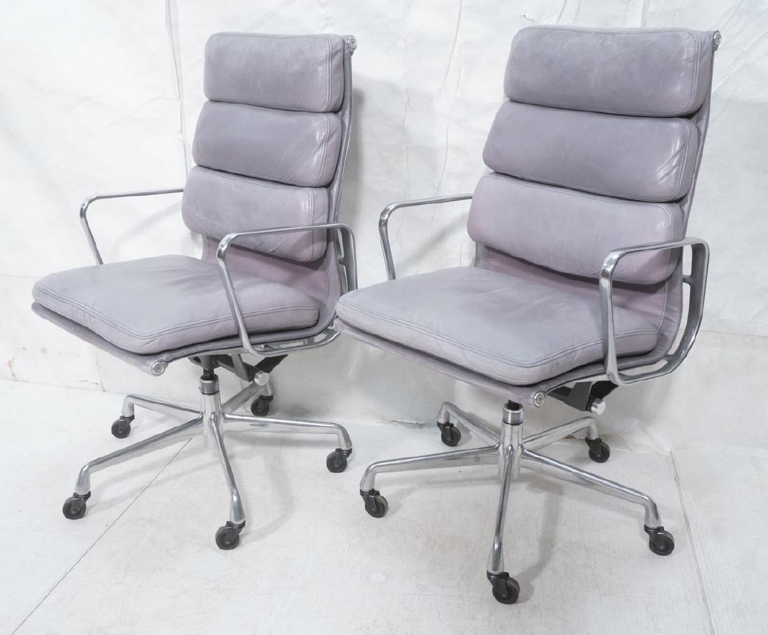 Pair Herman Miller Aluminum Group Soft Pad Chairs