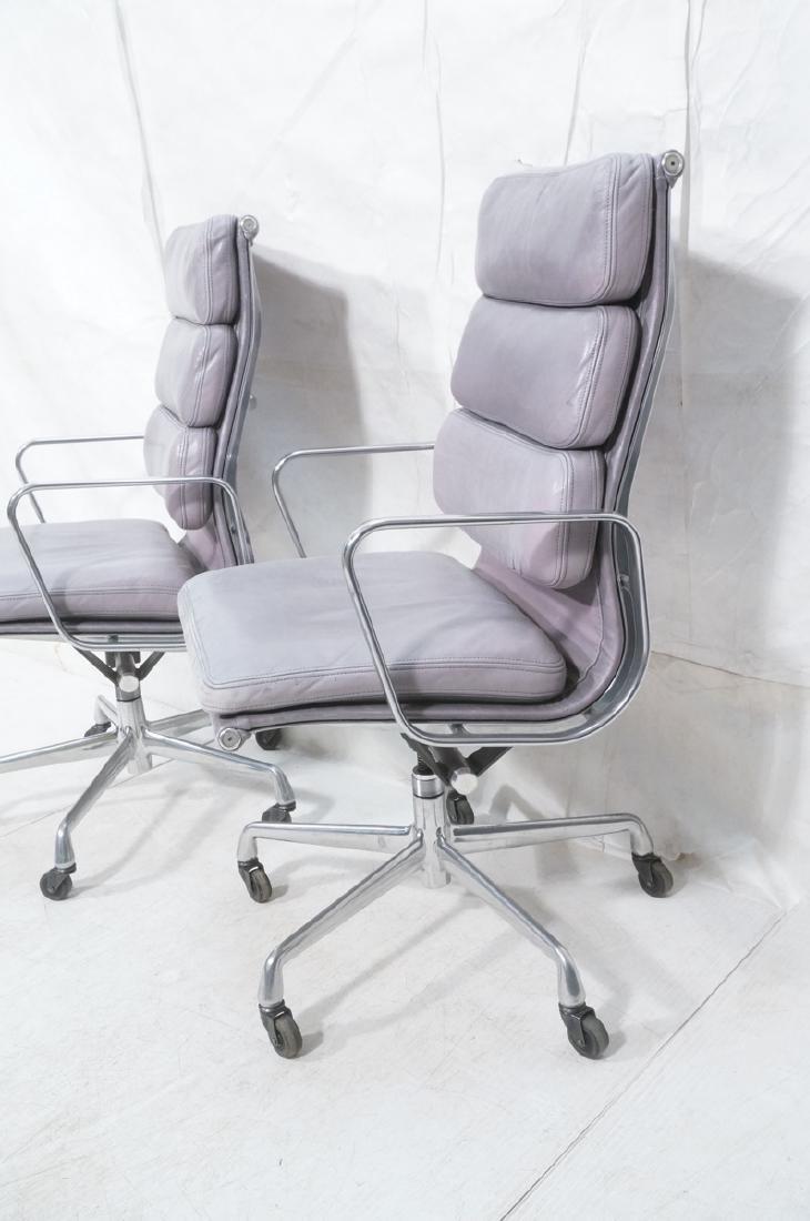 Pair Herman Miller Aluminum Group Soft Pad Chairs - 2