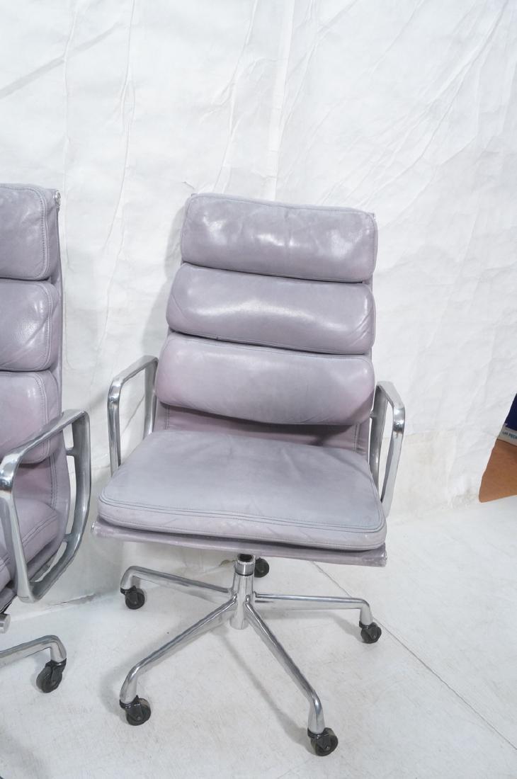Pair Herman Miller Aluminum Group Soft Pad Chairs - 3