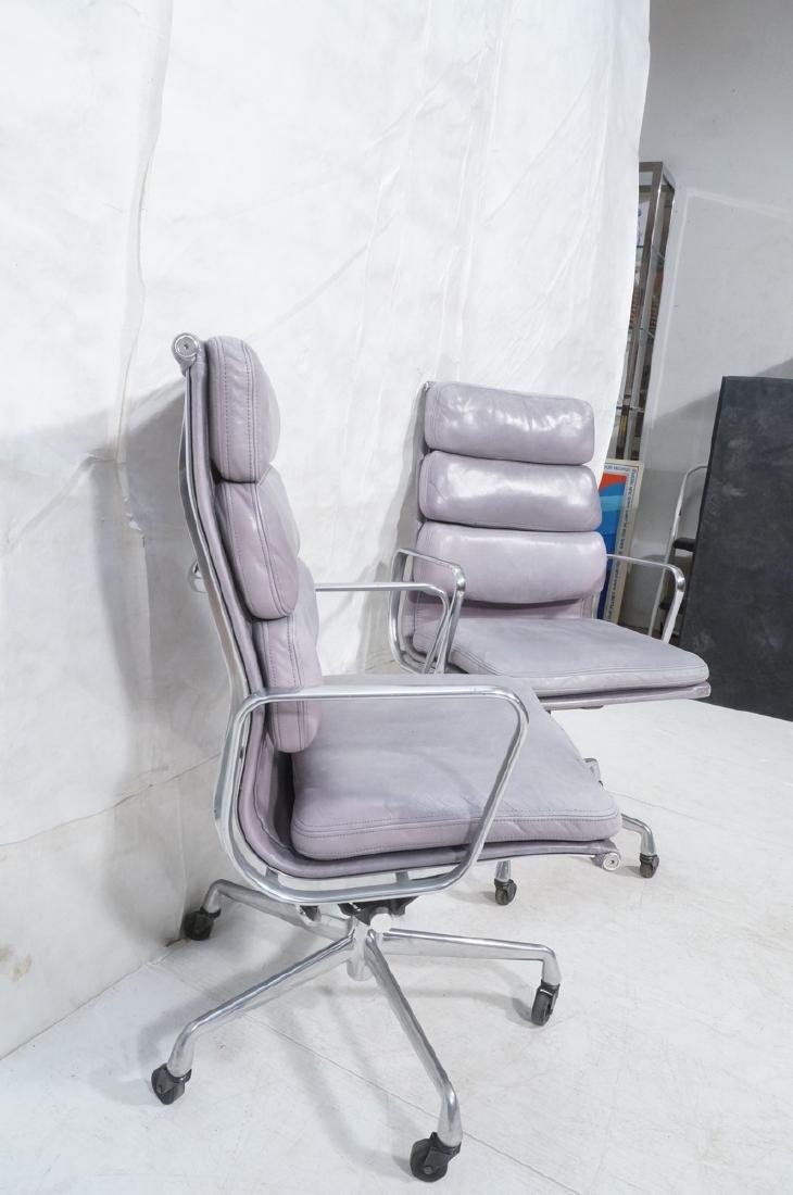 Pair Herman Miller Aluminum Group Soft Pad Chairs - 4