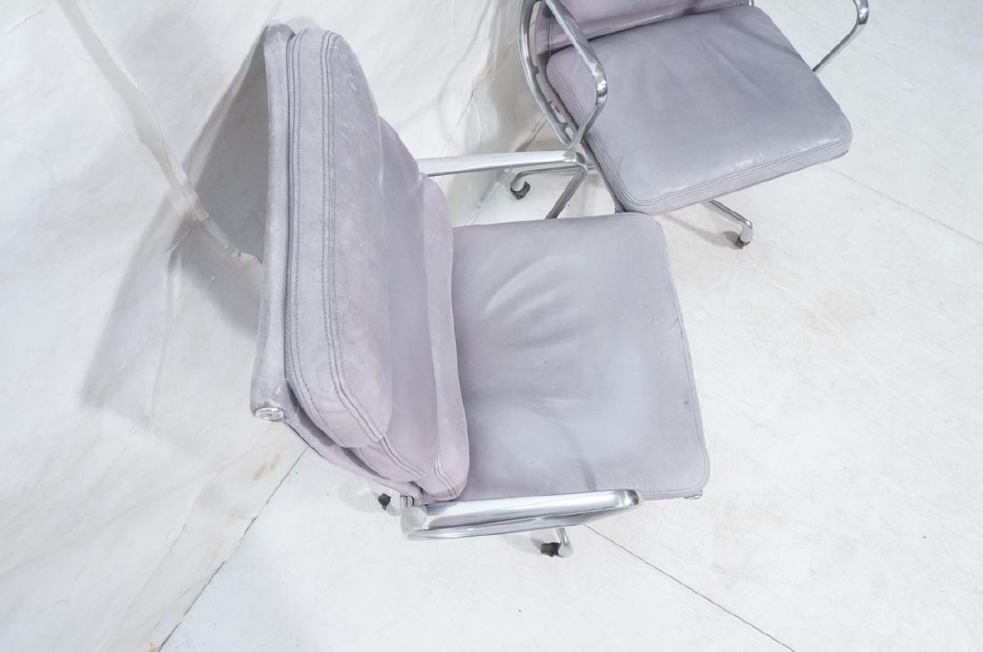 Pair Herman Miller Aluminum Group Soft Pad Chairs - 5