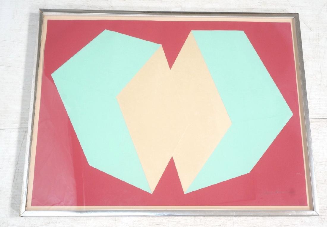 Charles Hinman Op art Serigraph Print.  70/200 Em