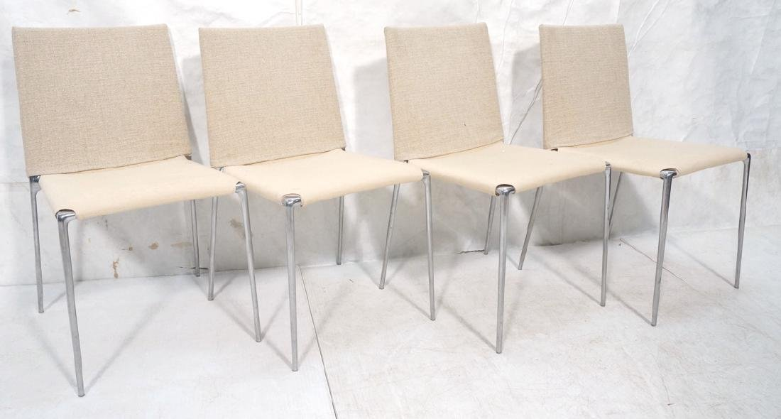 Set 4 B&B Italia Side Dining Chairs. Slip cover s