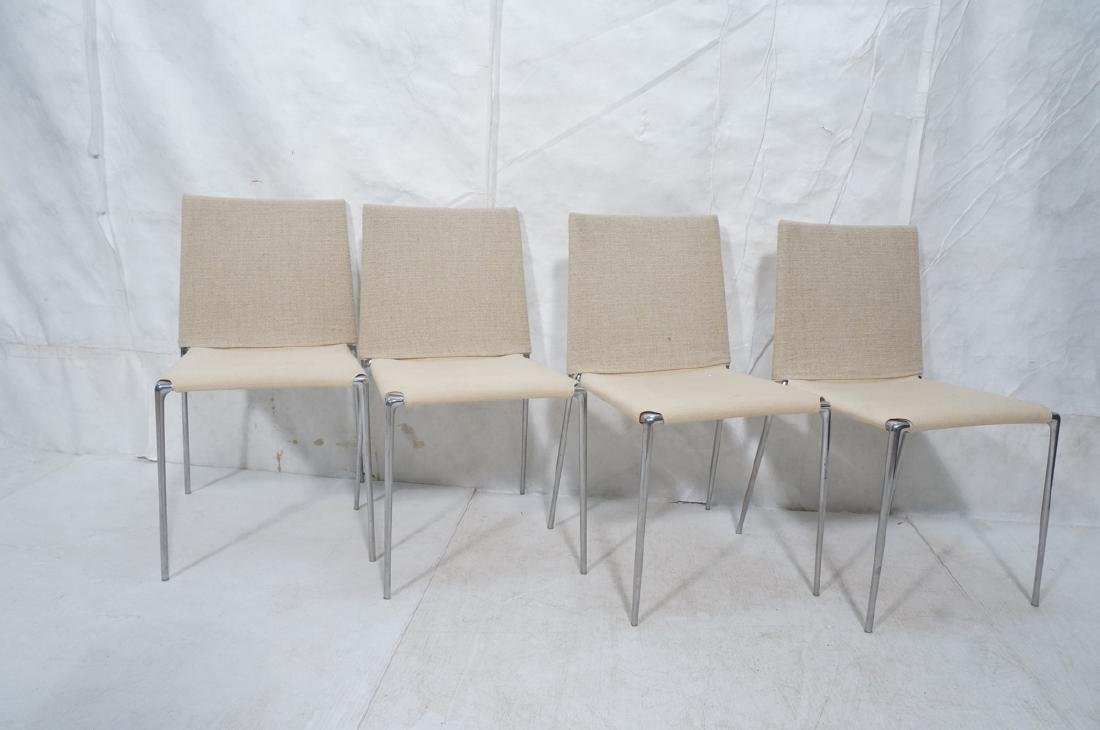 Set 4 B&B Italia Side Dining Chairs. Slip cover s - 2