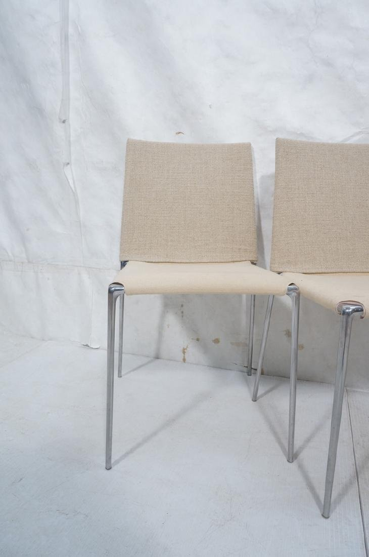 Set 4 B&B Italia Side Dining Chairs. Slip cover s - 3