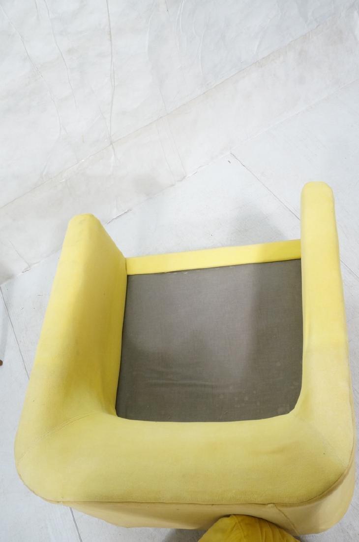 Lemon Yellow Velvet Chrome Tube Lounge Chair. Thi - 7
