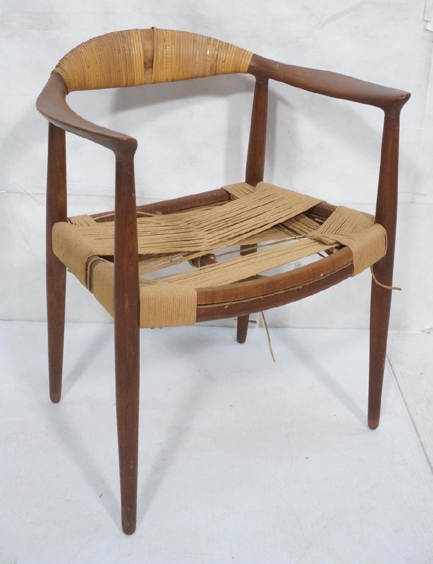 HANS WEGNER Attrib Danish Bull Horn Lounge Chair.