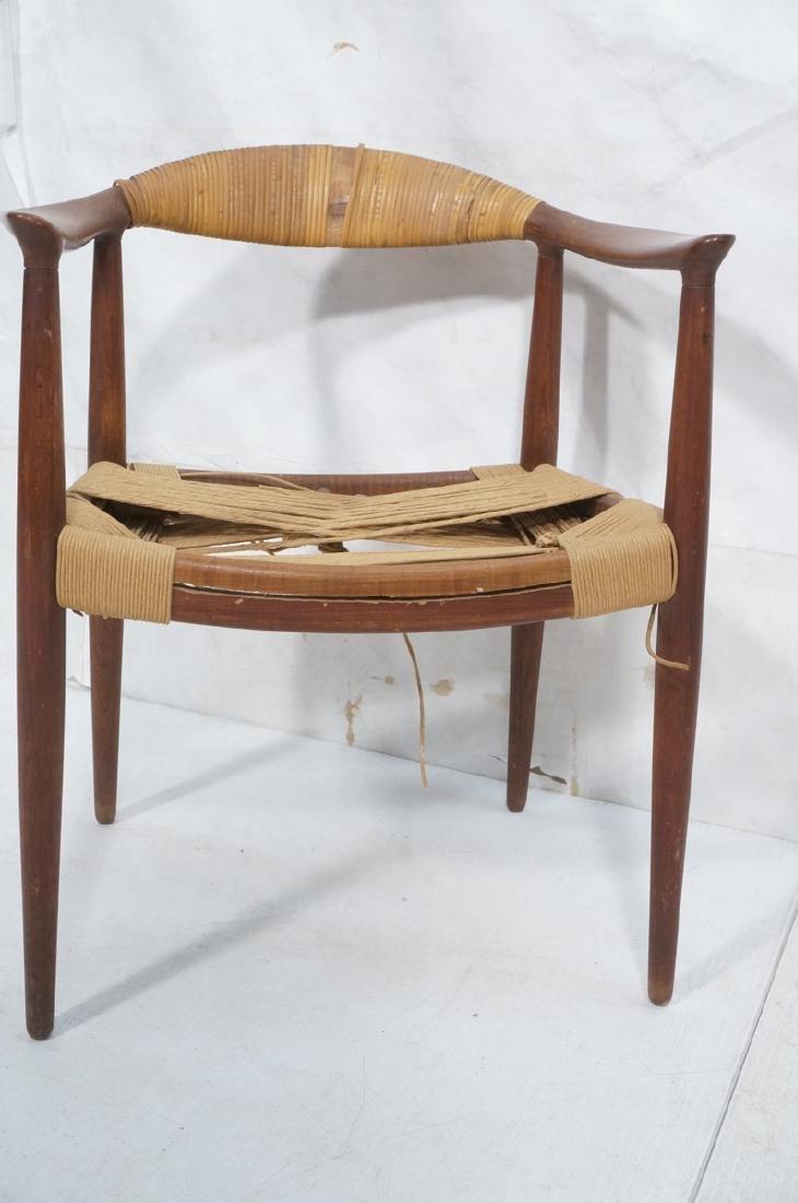 HANS WEGNER Attrib Danish Bull Horn Lounge Chair. - 2