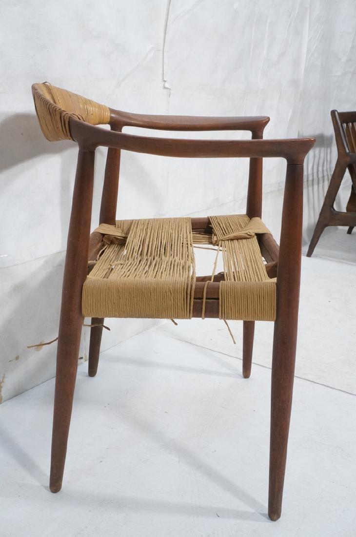 HANS WEGNER Attrib Danish Bull Horn Lounge Chair. - 3