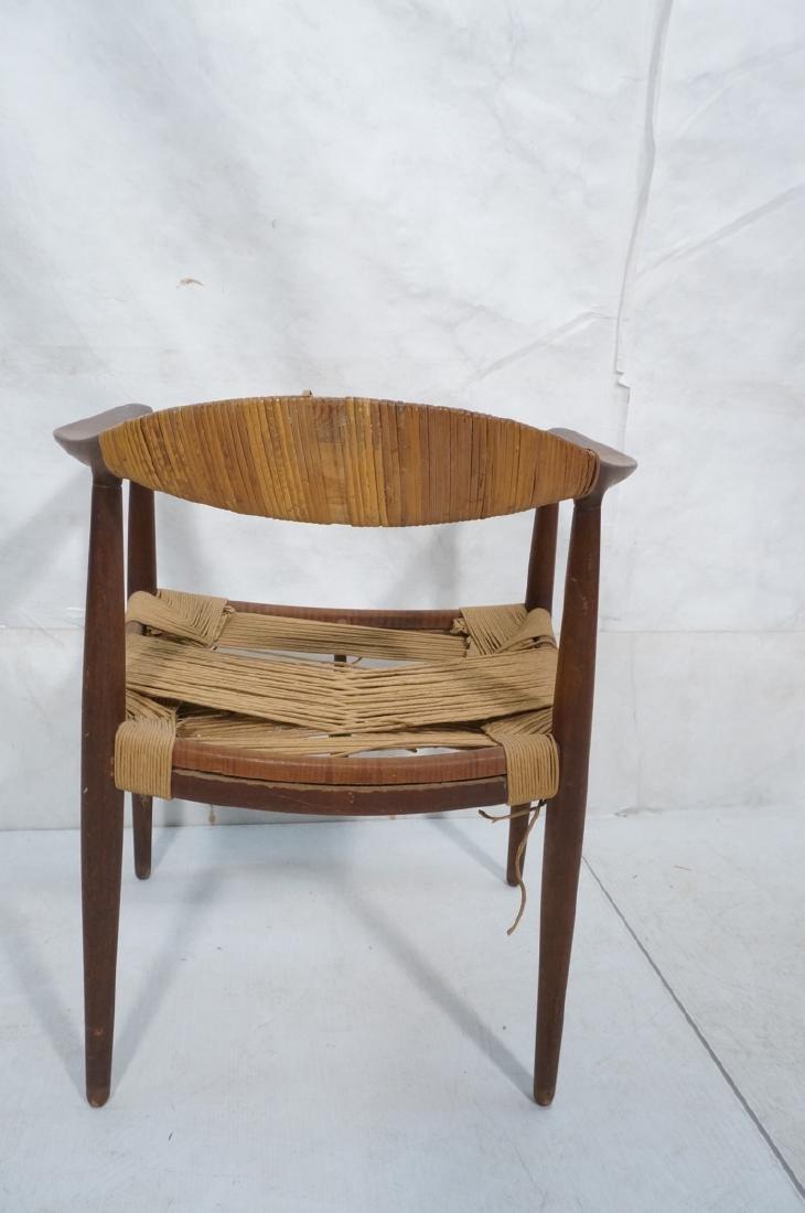HANS WEGNER Attrib Danish Bull Horn Lounge Chair. - 4