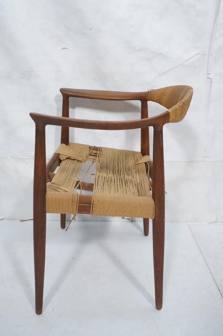 HANS WEGNER Attrib Danish Bull Horn Lounge Chair. - 5