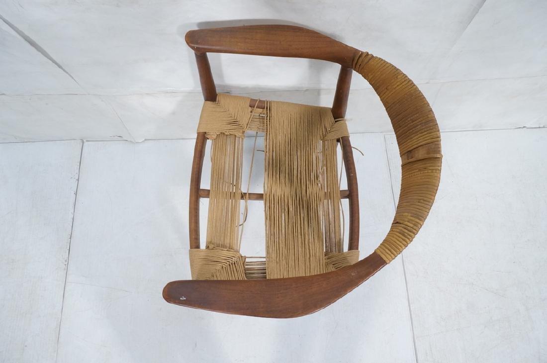 HANS WEGNER Attrib Danish Bull Horn Lounge Chair. - 6