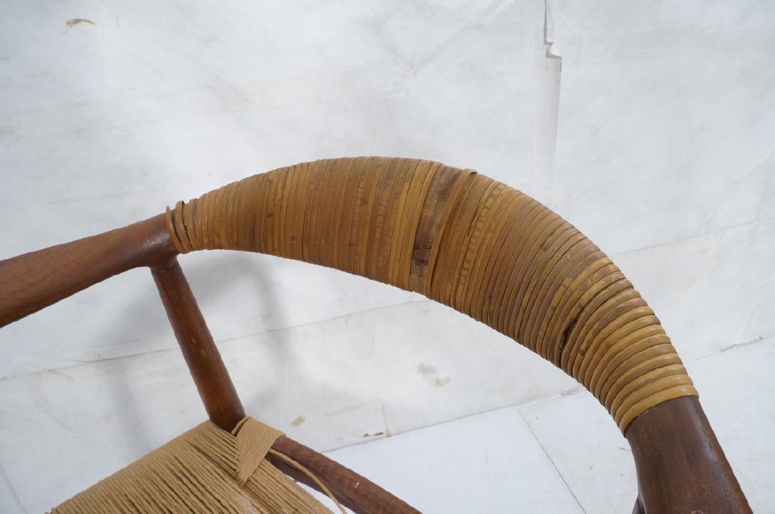 HANS WEGNER Attrib Danish Bull Horn Lounge Chair. - 7