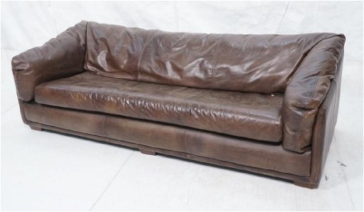 Contemporary Brown Leather Sofa Couch. Halo Asia