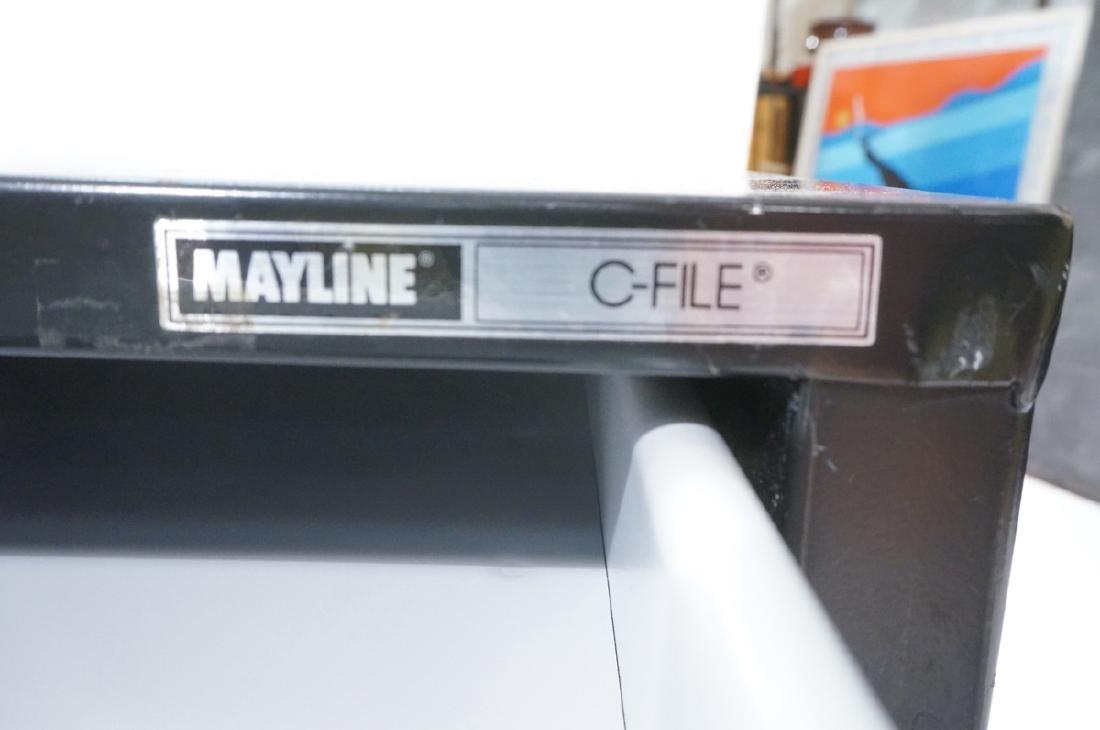 MAYLINE Metal Map Case Horizontal File Cabinet 5 - 5
