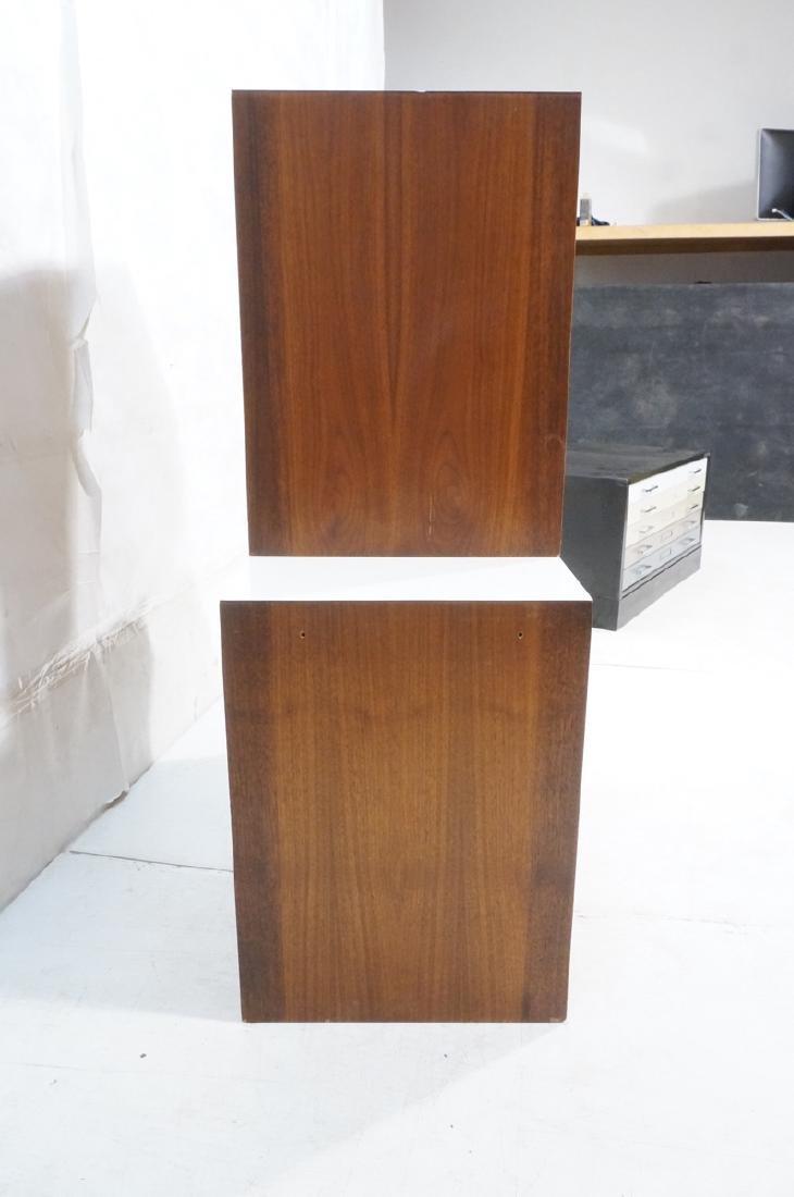 2pc Walnut Wall Mounted Cabinets. Walnut case and - 3