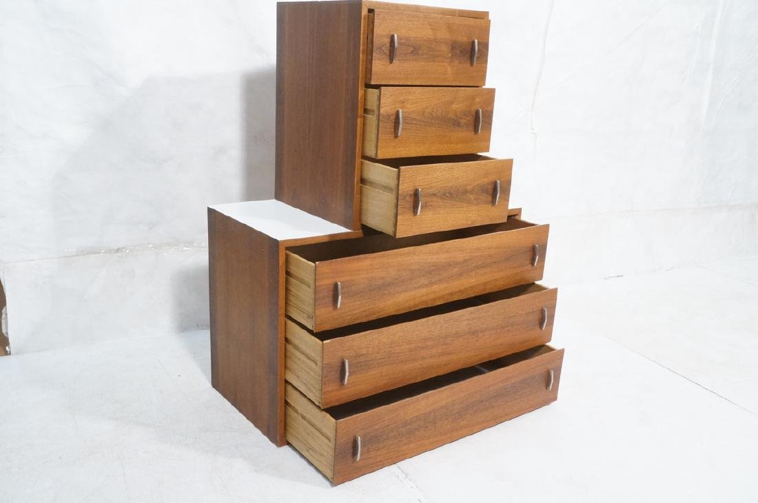 2pc Walnut Wall Mounted Cabinets. Walnut case and - 5
