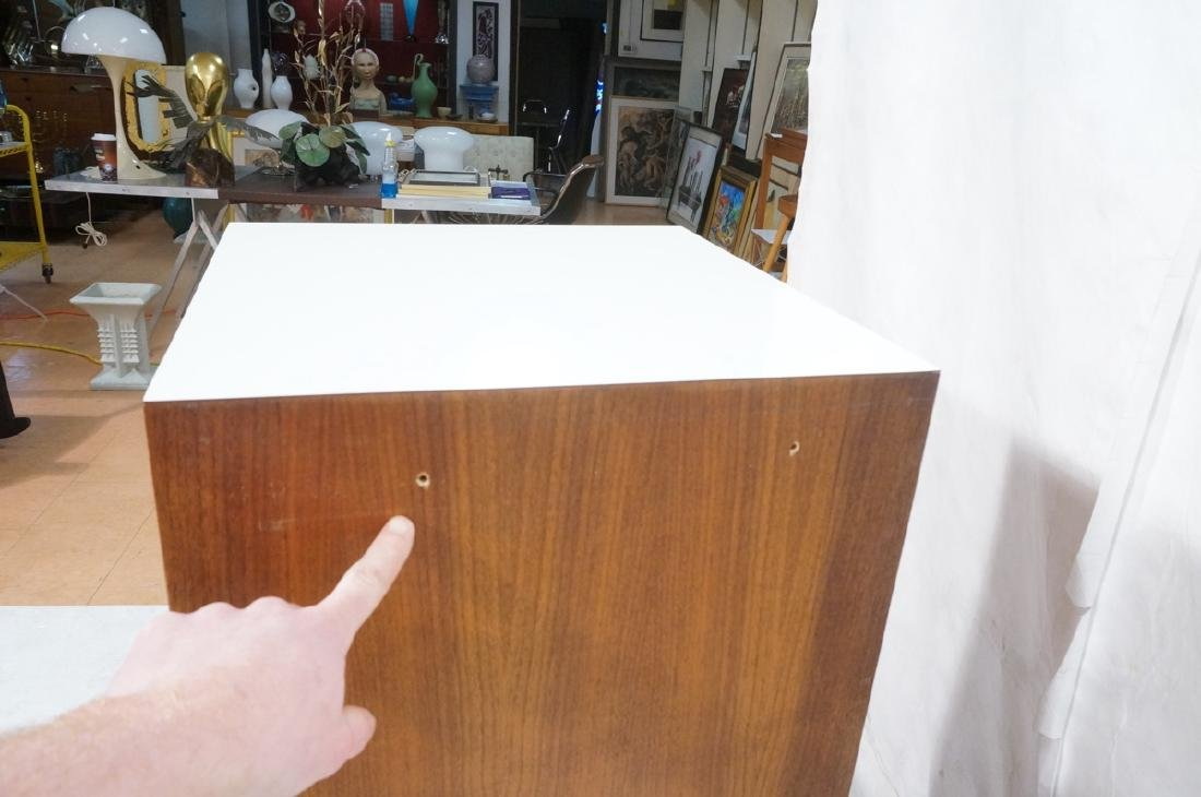 2pc Walnut Wall Mounted Cabinets. Walnut case and - 6