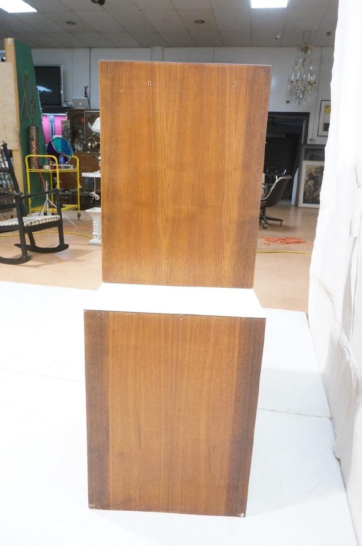 2pc Walnut Wall Mounted Cabinets. Walnut case and - 7