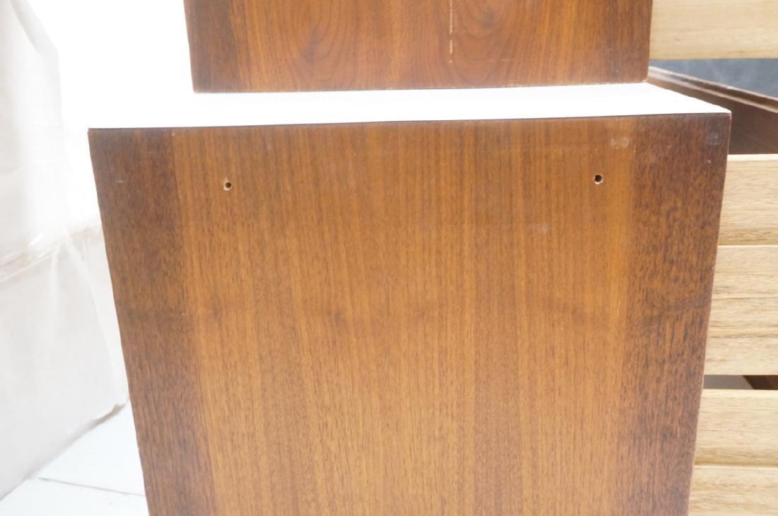 2pc Walnut Wall Mounted Cabinets. Walnut case and - 9