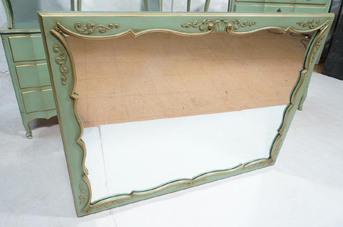 5pc Green French Provincial Bedroom Set. Antiqued - 2