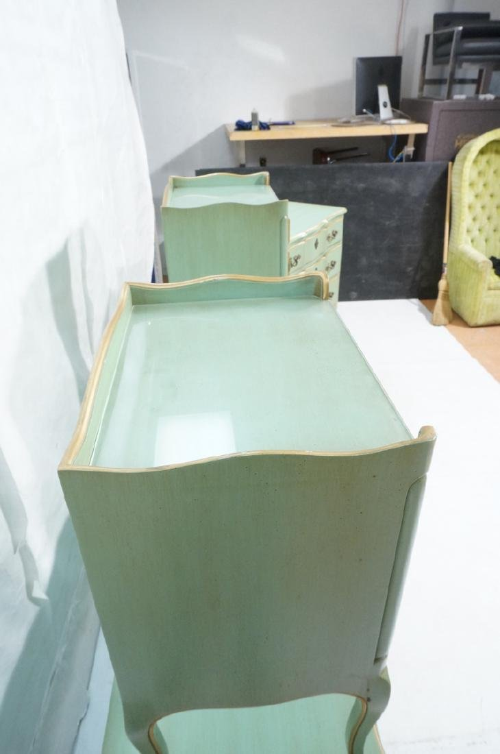 5pc Green French Provincial Bedroom Set. Antiqued - 5