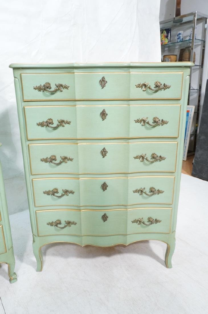 5pc Green French Provincial Bedroom Set. Antiqued - 8