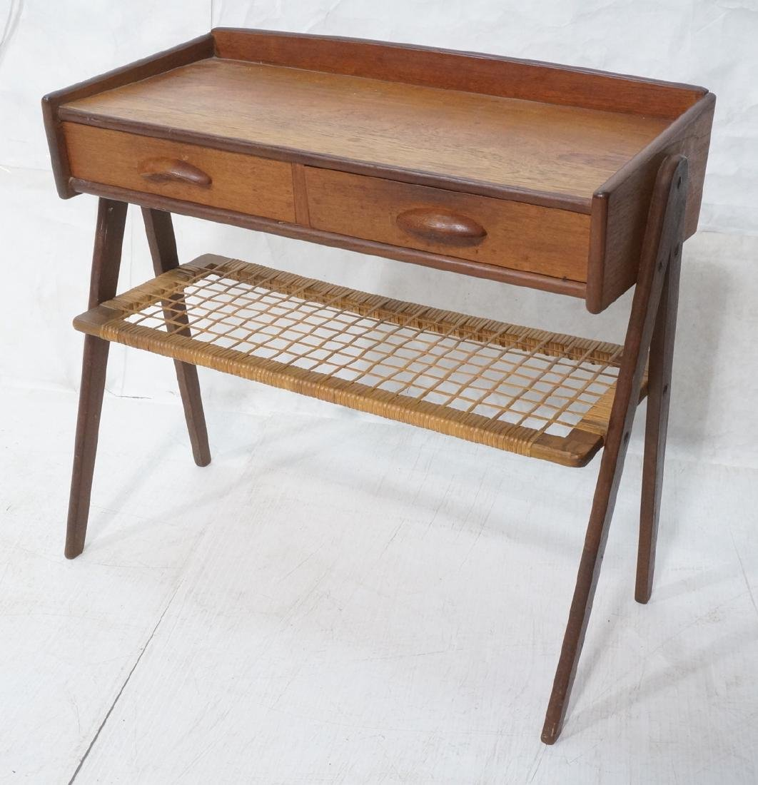 Danish Teak Small Occasional Table. Dark stained