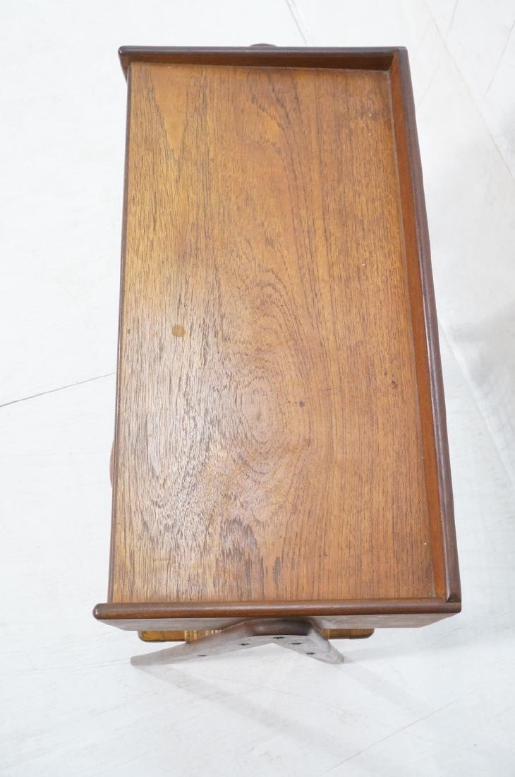 Danish Teak Small Occasional Table. Dark stained - 4
