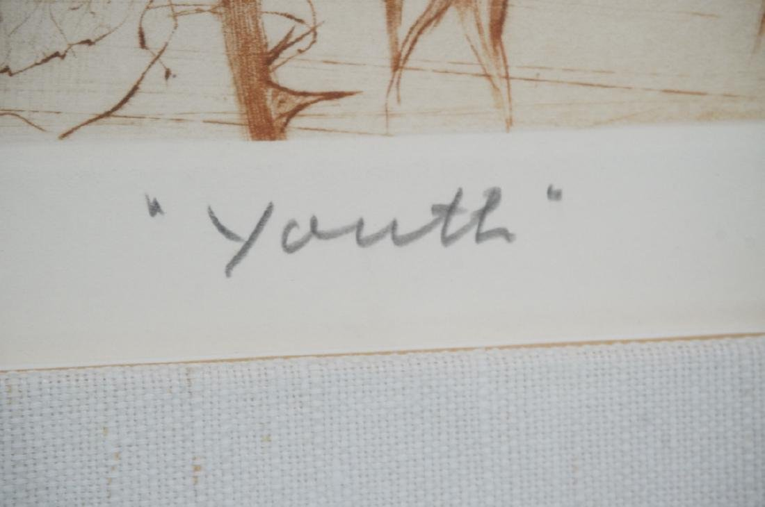 "GH ROTHE Print ""Youth"" Portraits of people among - 4"