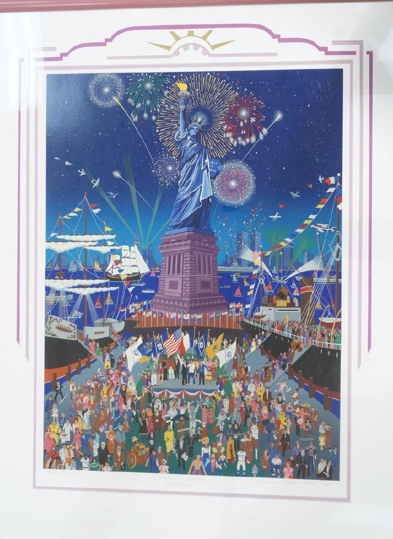 MELANIE TAYLOR KENT Statue of Liberty Print. Four