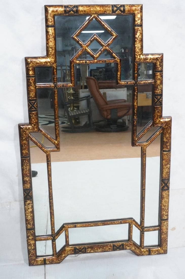 Decorator Tortoise Finish Wall Mirror. Decorative