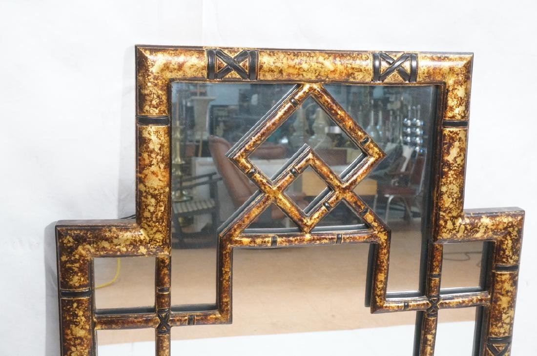 Decorator Tortoise Finish Wall Mirror. Decorative - 2