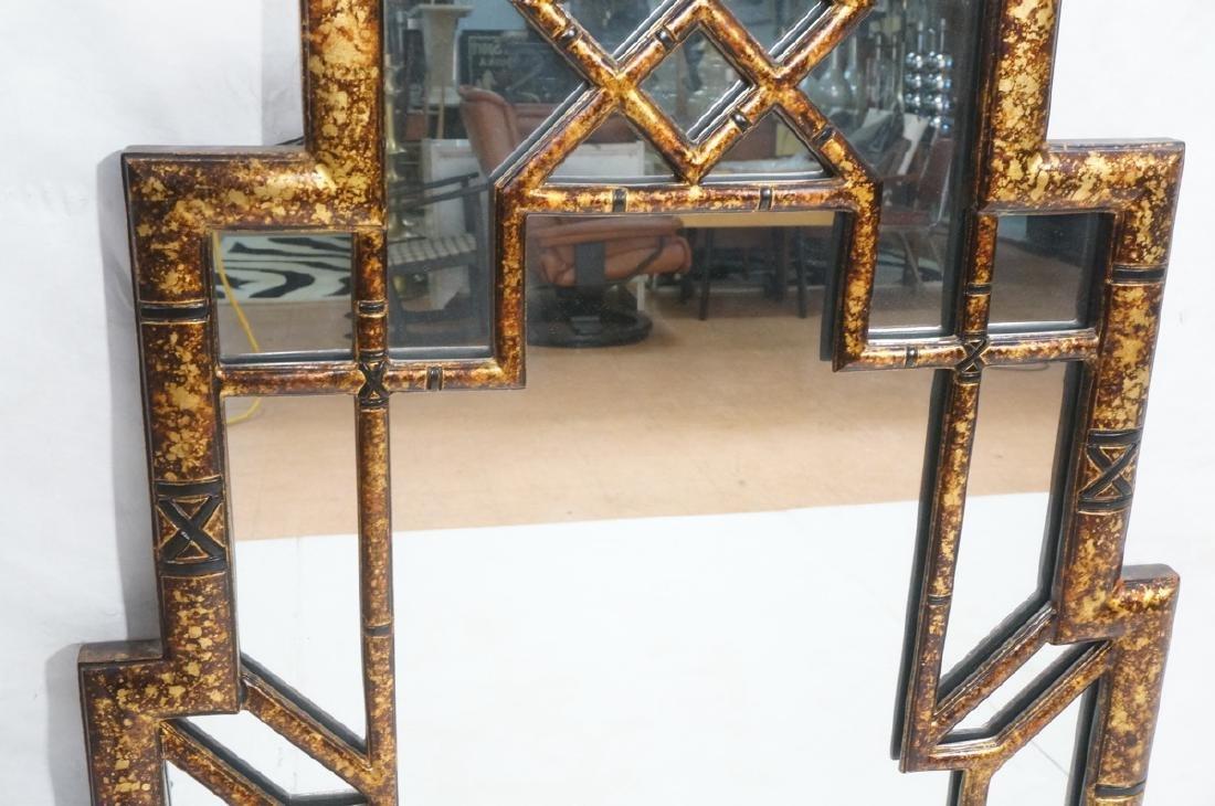 Decorator Tortoise Finish Wall Mirror. Decorative - 3