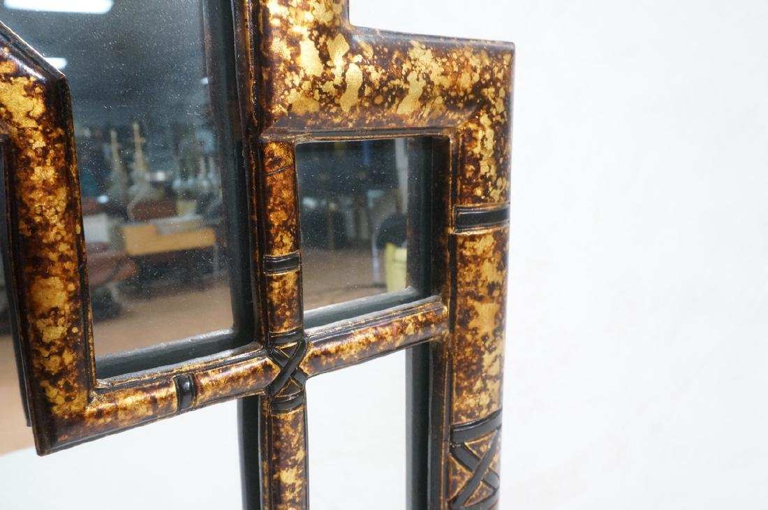 Decorator Tortoise Finish Wall Mirror. Decorative - 6