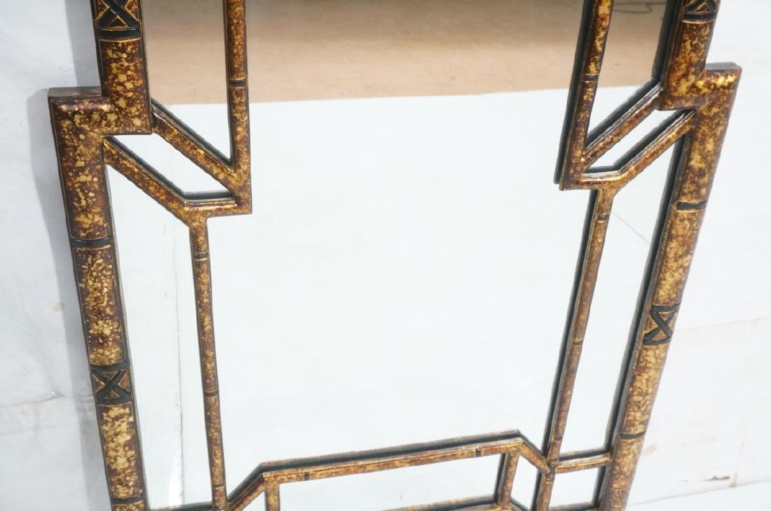 Decorator Tortoise Finish Wall Mirror. Decorative - 9